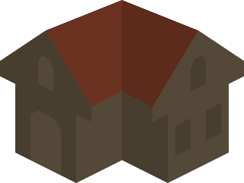 Placeholder Isometric Building Icon Colored Dark Alternative by qubodup