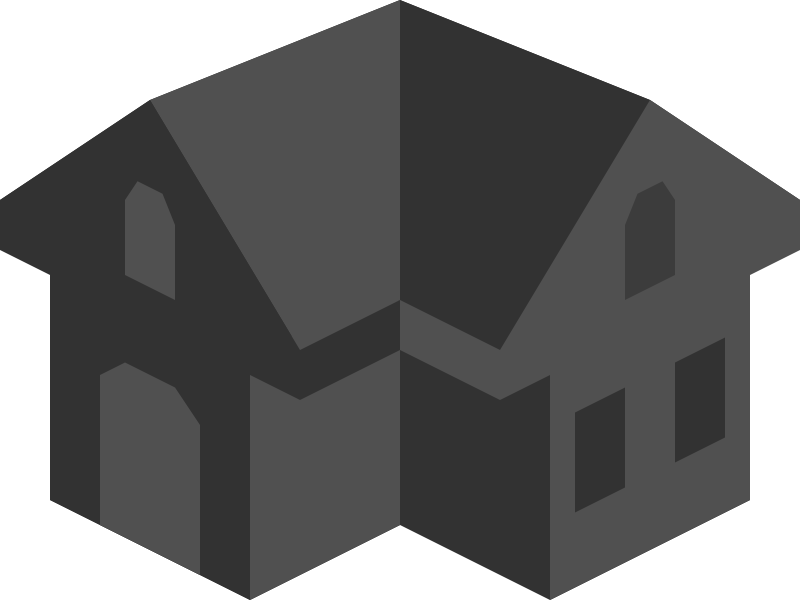 Placeholder Isometric Building Icon Colored Dark Alternative 2 by qubodup - Perhaps for a game?