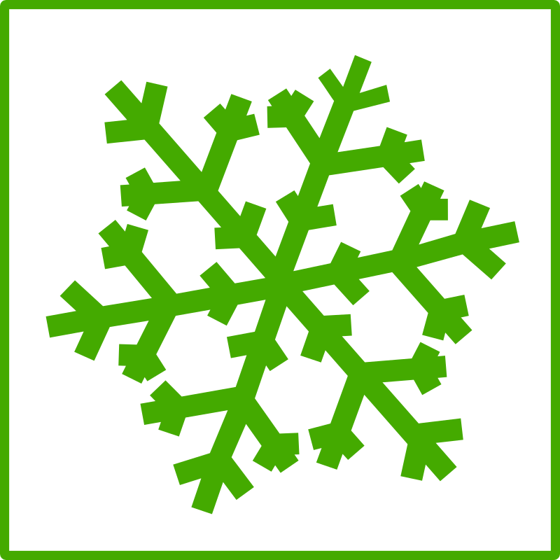 eco green snow icon by dominiquechappard - snow icon