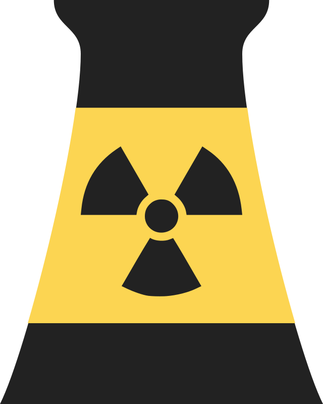 Nuclear power plant reactor symbol 2 by qubodup nuclear power plant