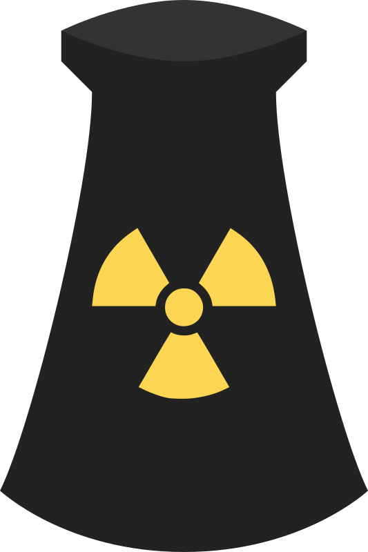 Clipart Nuclear Power Plant Icon Symbol 3