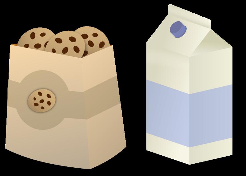 Clipart - Milk & Cookies