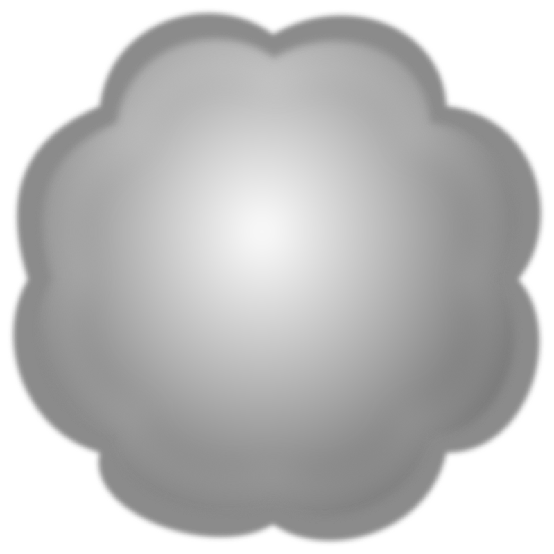 Cloud or Pom-pon by Merlin2525 - A shape of a Pom-pon or cloud. Created with Inkscape by Merlin2525.