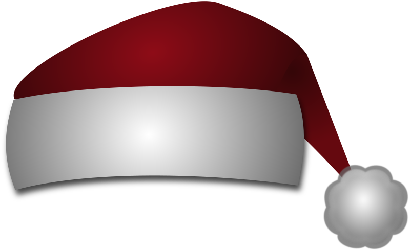 Santas Hat by Merlin2525 - A simple Santa's hat drawn with Inkscape.
