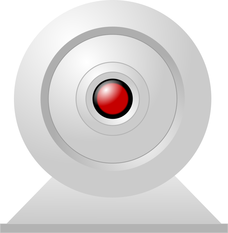 "Webcam HAL by Crimperman - A typical desktop webcam with a ""HA:L-like"" red glow in the ""eye"""