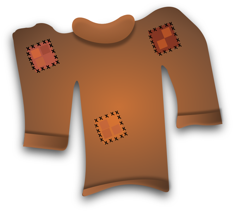 Worn Out Sweater by Merlin2525 - An old worn out sweater. Original artwork by Merlin2525. Drawn with Inkscape.