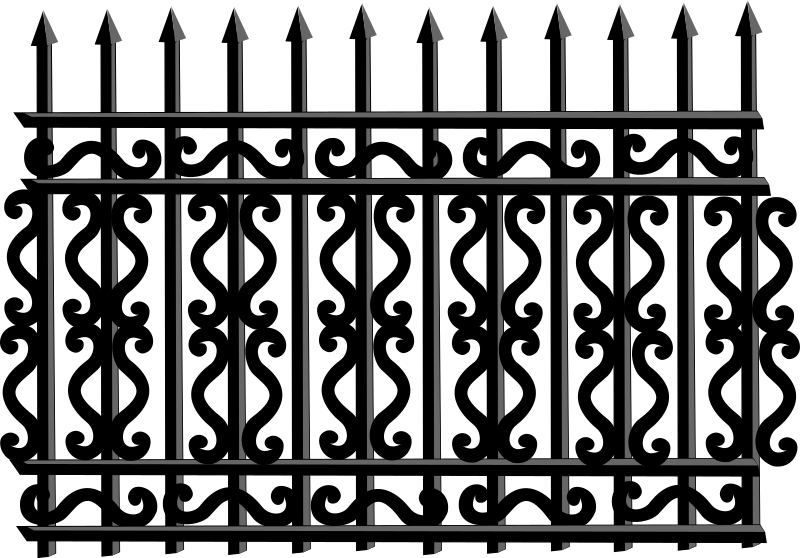 Iron Fence by Merlin2525 - An Iron Fence drawn with Inkscape.