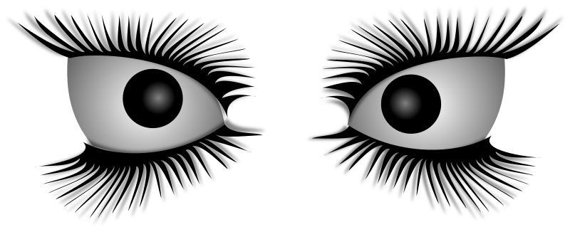 Mad Eyes by Merlin2525 - Mad, evil, insane eyes with eyelashes drawn by Merlin2525 using Inkscape.