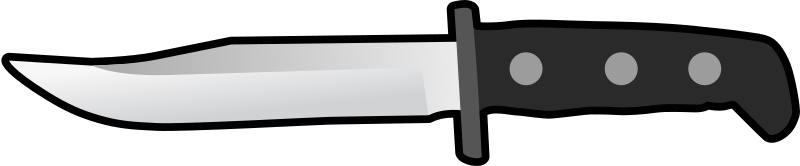Simple Flat Knife Side View by qubodup - Simple version of a knife for icons in games for example.
