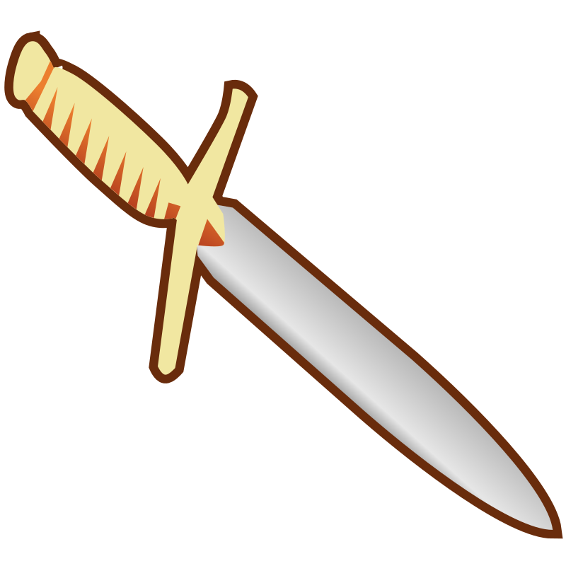 Simple Pagan Knife Icon by qubodup - Simple knife for icons and stuff