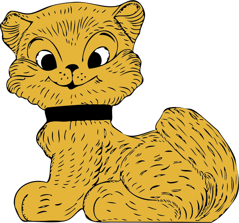 cat by johnny_automatic - a cartoon cat or kitten from a U.S. patent drawing