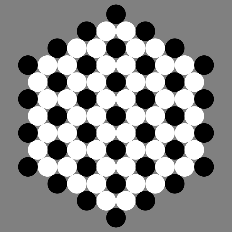 June 25 2012 black and white circles by 10binary - This is something that was inspired while I was playing around with chess pawns.