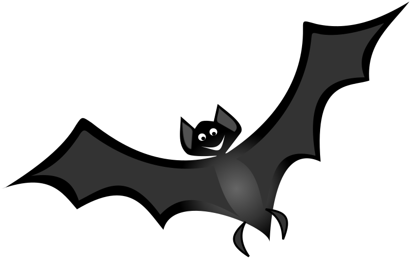 Bat 1 Remix by Merlin2525 - This bat is a my remix from Netalloy's Spooky House clip art. I gave my bat a smile and some flimsy looking feet.