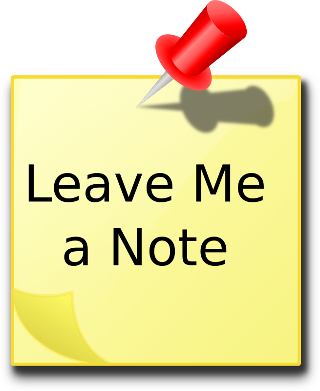 Leave Me A Note by kg