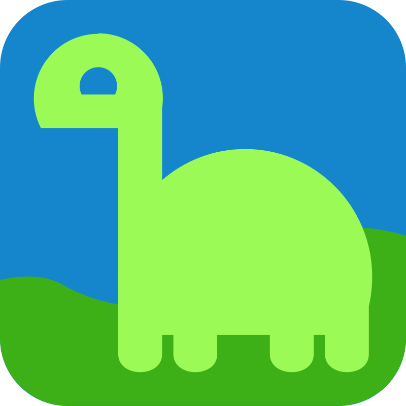 Light Dino Avatar Icon by qubodup