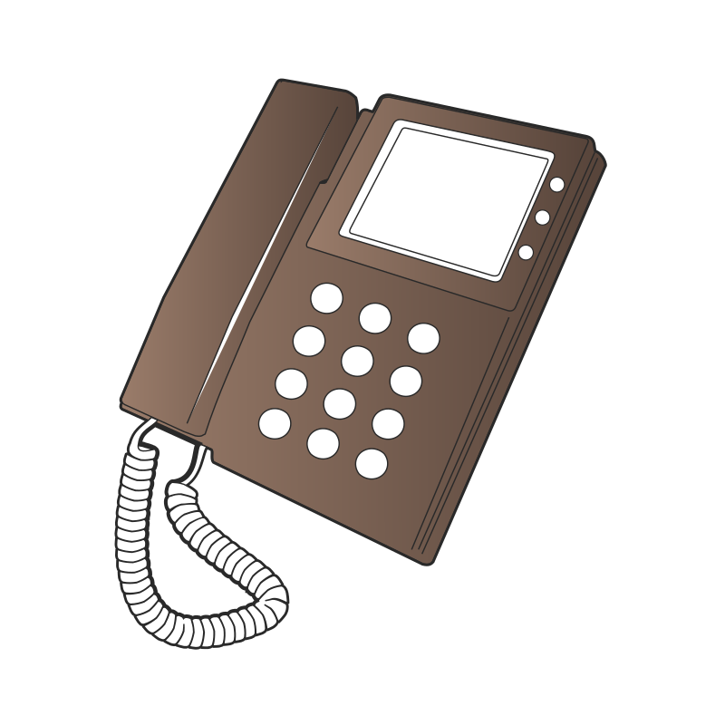 Desk Phone by meticulous - A remix of http://openclipart.org/detail/94759