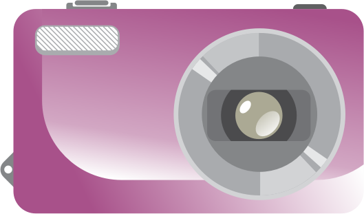 Digital Camera by wik2kassa - A purple colored Digital Point and shoot camera.