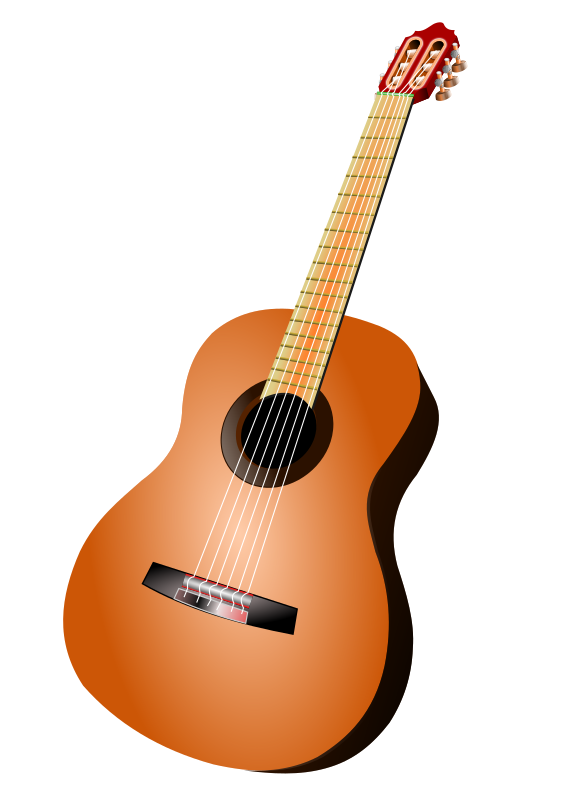 classic guitar by hatalar205 - A simple guitar clipart.