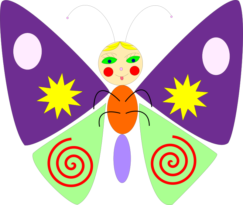 Clipart - cartoon butterfly
