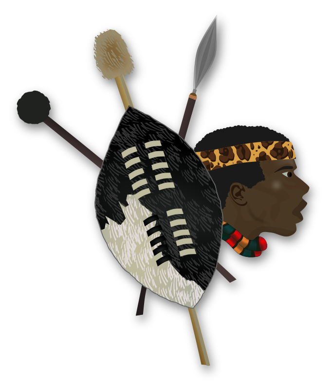 Zulu Warrior by gnokii - items and head of a zulu warrior