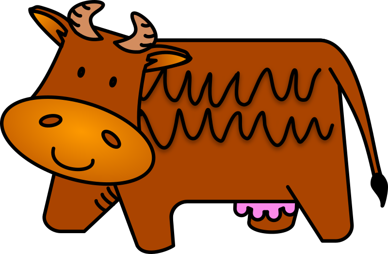 Brown Cow by Bibbleycheese - A friendly little brown cow