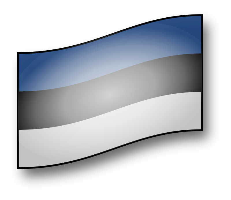 clickable Estonia flag by GMcGlinn - A interactive flag of Estonia - hover and click effects.