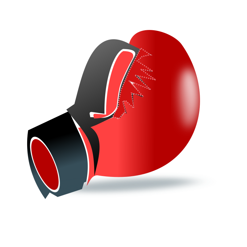 Boxing glove by netalloy - sports clipart by netalloy