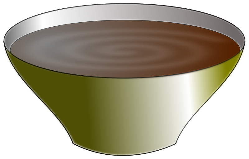 bowl by cprostire - a bowl with chocolate cream