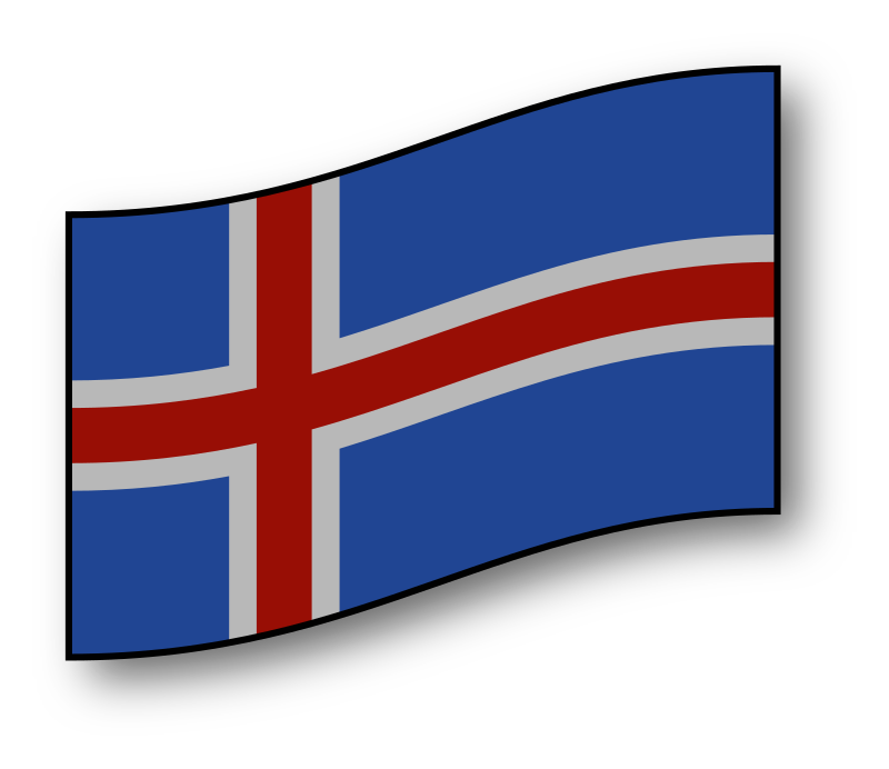interactive Iceland flag by GMcGlinn