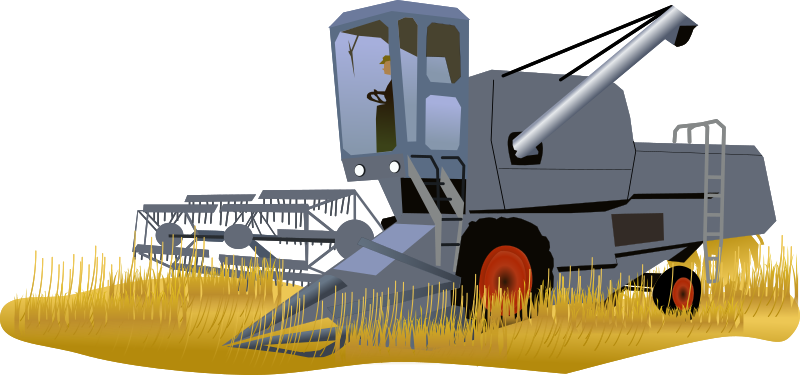 Harvester by cyberscooty - Combine Harvester - Moissoneuse batteuse