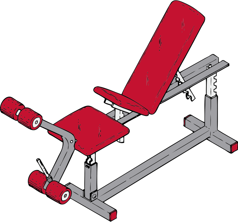exercise bench by johnny_automatic - an exercise bench from a U.S. patent drawing