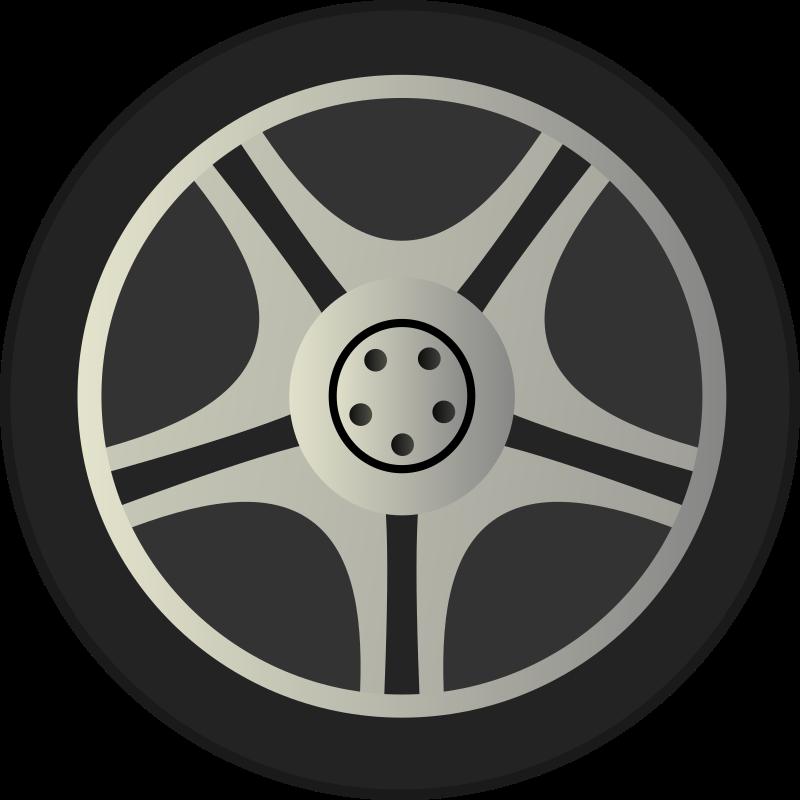 cartoon tires clipart illustration