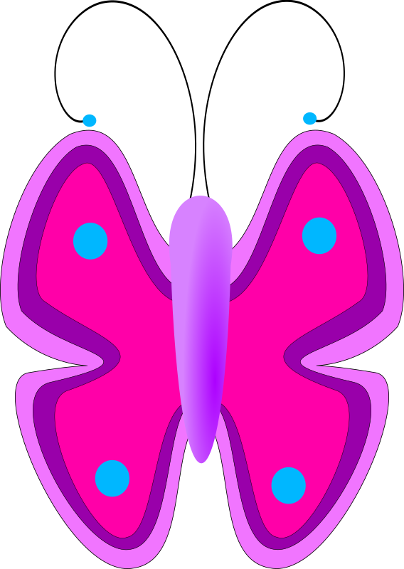 Butterfly by jesseakc - A simple yet colorful butterfly.