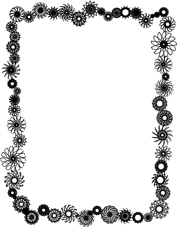 Flower frame by Fractalbee - This flower frame consists of multiple guilloches.