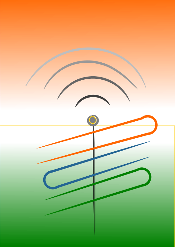 Independence Antenna by lpr577 - Independence of India spreads on, as these waves from antenna spreads along................ Created by Bala Swecha developer and contributer Prabhat