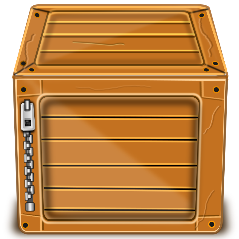 Wooden Package by kuba - Wooden Box without ZIP text, will probably used when OCAL will generate monthly package.