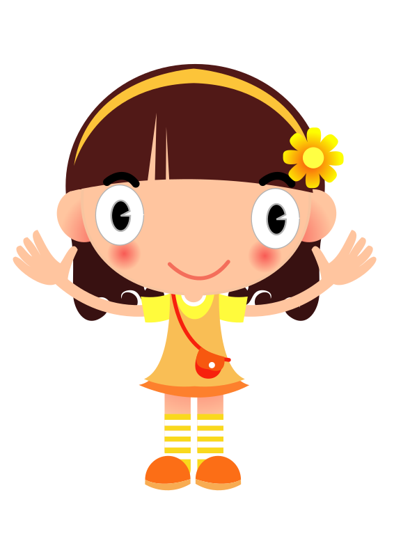clipart yellow girl cute little girl clipart Little Girl Silhouette Clip Art