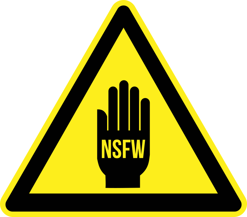 NSFW Warning by kuba - NSFW warning sign