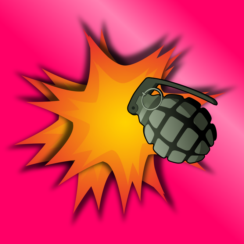 Grenade Explosion by qubodup - Just a background graphic for decorating explosion-themed things