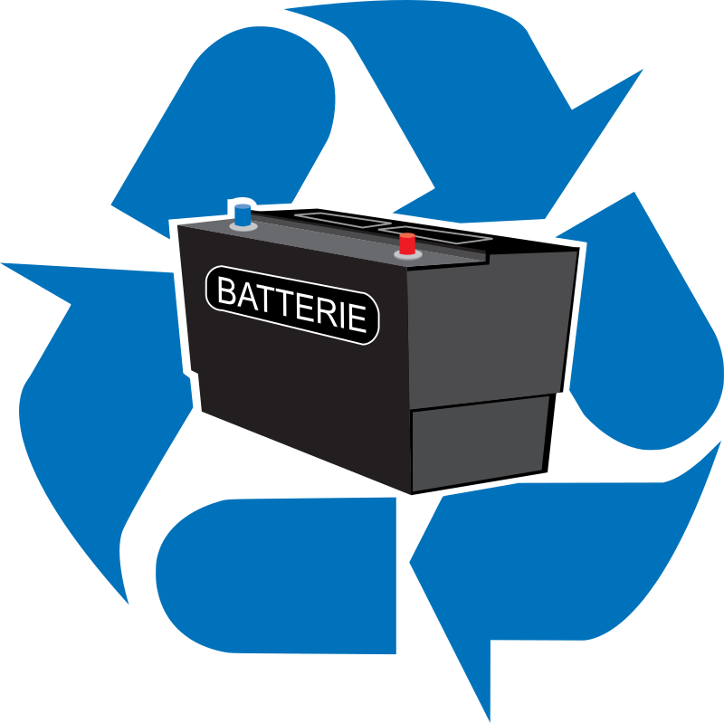 recyclage batterie by laurent - A recyclable car batterie.