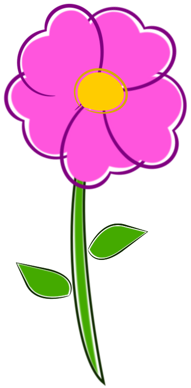 clipart flower flor Cartoon Hawaiian Flowers May Flowers Clip Art