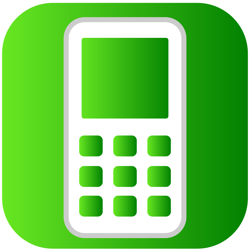 Clipart - phone icon: https://openclipart.org/detail/171986/phone-icon-by-areksvg-171986