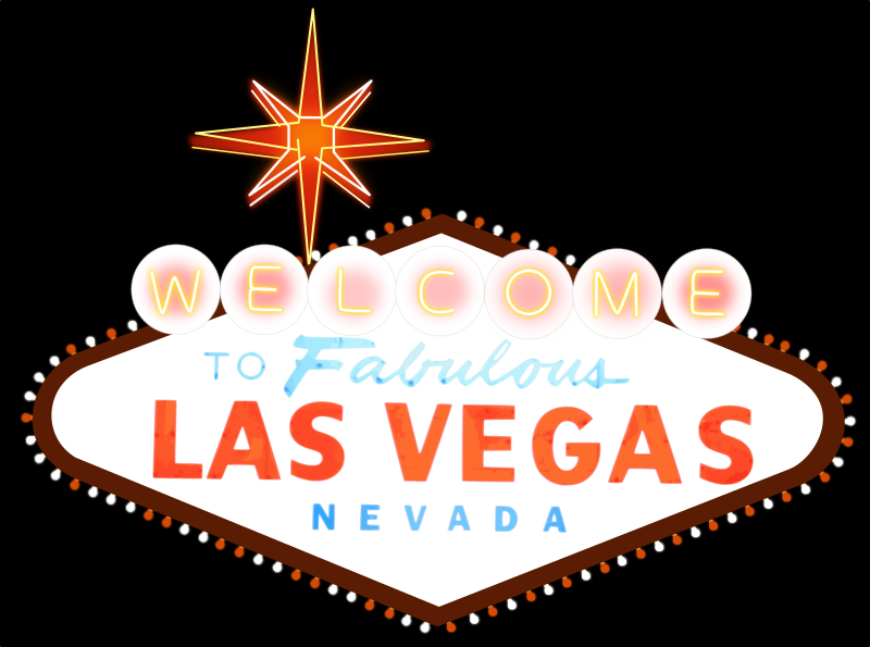 Las Vegas Sign by qurps - Las Vegas Sign done by me in Inkscape from a Picture