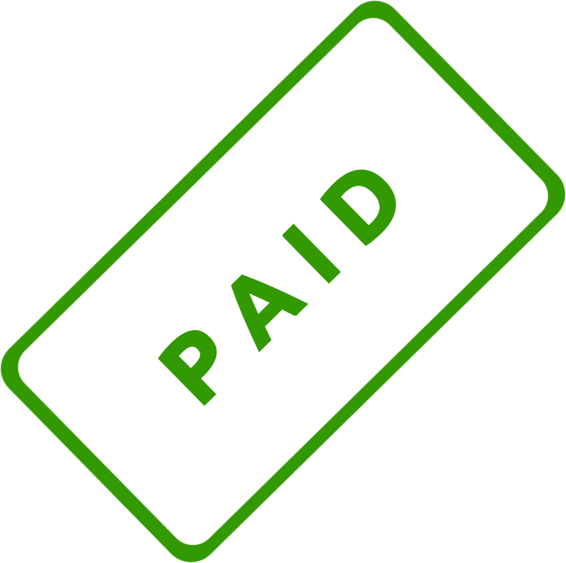 "Paid Business Stamp 1 by Merlin2525 - A slanted solid green business stamp, with the words, ""Paid."" Created with Inkscape."