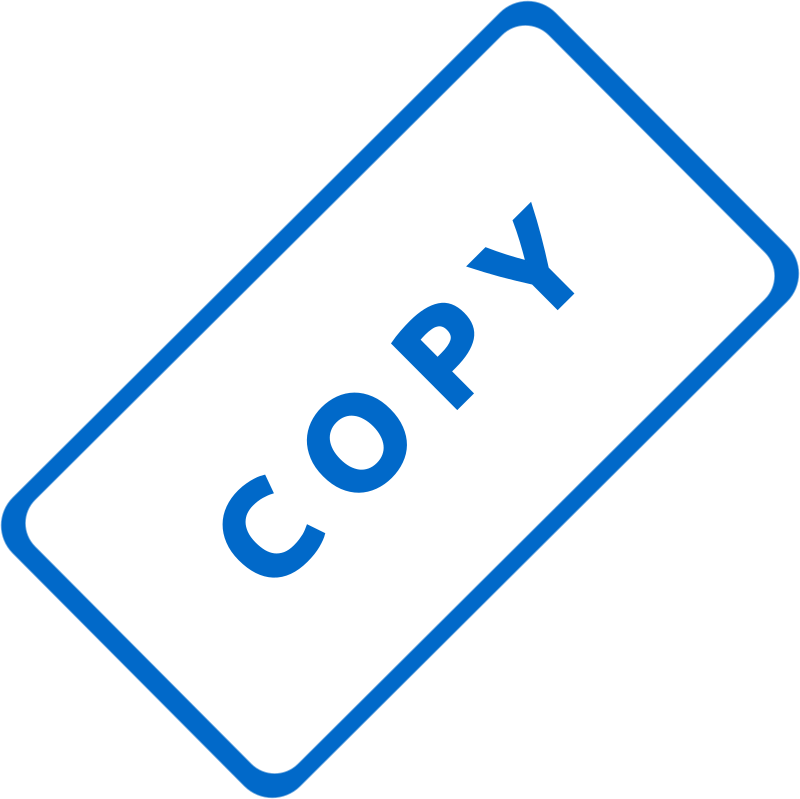 "Copy Business Stamp 1 by Merlin2525 - A slanted solid blue business stamp, with the words, ""Copy."" Created with Inkscape."