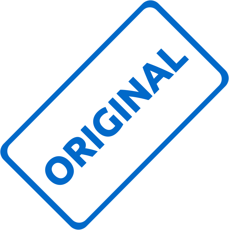 "Original Business Stamp 1 by Merlin2525 - A slanted solid blue business stamp, with the words, ""Original."" Created with Inkscape."