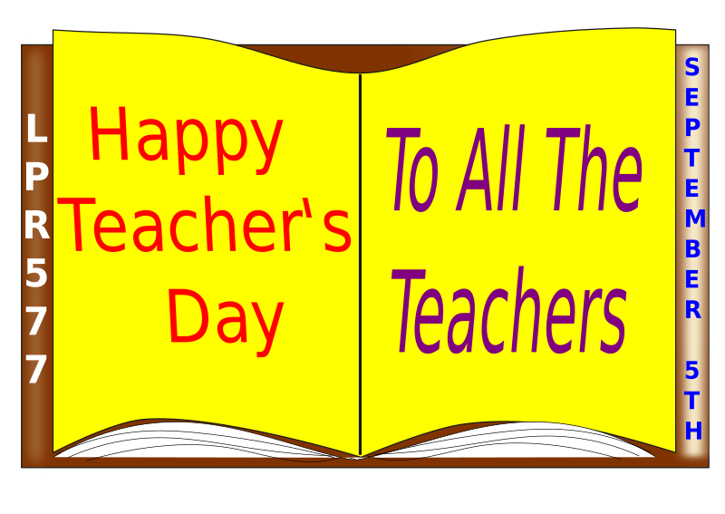 Teacher's day wishes by lpr577 - A book with greetings for teachers