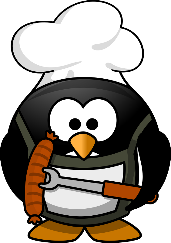 Grilling penguin  by dodger2 - A penguin at the grill.