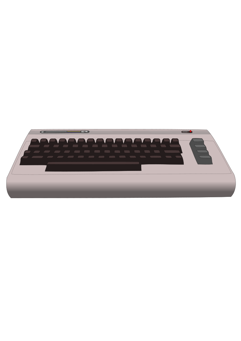 "Commodore 64 Computer by larrymade - the classic ""Breadbox"" Commodore 64 computer design which debuted in 1982."