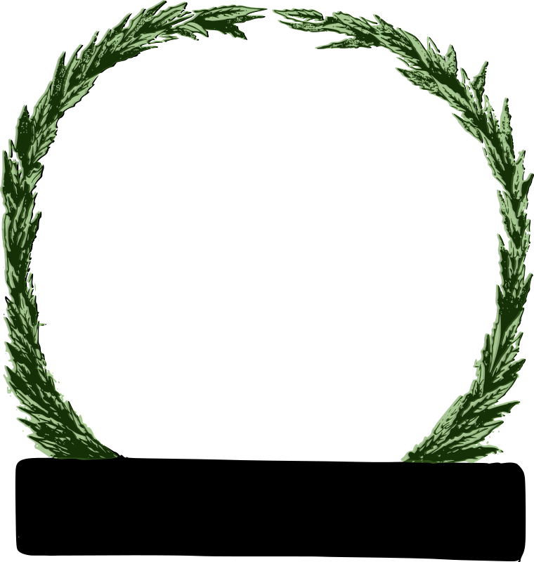 Peace Wreath (green) by j4p4n - The bar on the bottom was originally a company name marker. I left it because I thought it would be useful for someone, but now I am starting to think it looks like a censorship bar. Hmm. It's annoying me a bit. Garrgh.